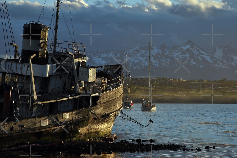 Golden Boat of Ushuaia by Alessandro Pinto