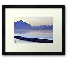 Purple light  in Bariloche  Framed Print