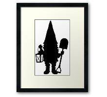 Gnome in Silhouette  Framed Print