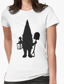 Gnome in Silhouette  Womens Fitted T-Shirt