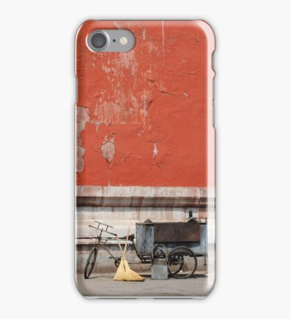 A Tricycle and Two Brooms iPhone Case/Skin