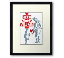 US Soldier Hero or Villain Framed Print