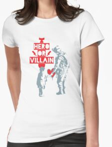 US Soldier Hero or Villain Womens Fitted T-Shirt