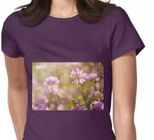 Wild pink Clover or Trifolium flowers Womens Fitted T-Shirt