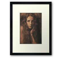You can see by the look in her eyes Framed Print