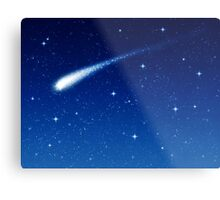Blue Shooting Star - Make a wish Metal Print
