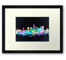 Austin skyline watercolor 2 Framed Print