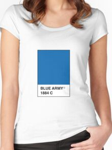 Leicester City Blue Army Pantone Women's Fitted Scoop T-Shirt