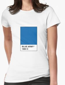 Leicester City Blue Army Pantone Womens Fitted T-Shirt