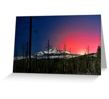 Three Fingered Jack Sunset  ~ Oregon Cascades ~ Greeting Card