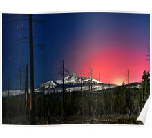 Three Fingered Jack Sunset  ~ Oregon Cascades ~ Poster