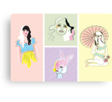 Pastel Fashion Collection Canvas Print