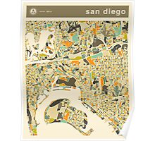 SAN DIEGO MAP Poster