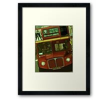 London Bus Framed Print