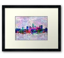 Austin skyline watercolor 3 Framed Print