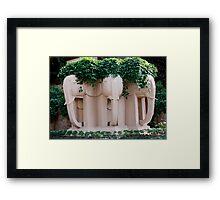 Elephants of Chiang Mai Framed Print