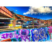 Leake Street and London Taxi Photographic Print