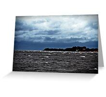 Sea, The Sky. Greeting Card