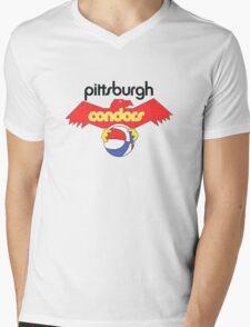 Pittsburgh Condors Vintage Mens V-Neck T-Shirt