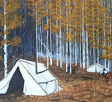 Elk hunt base Camp by John Marcum