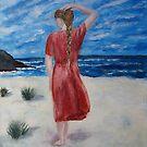 Girl walking on beach by olivia-art