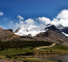 Athabasca  Glacier ..Columbia Ice Field  by Elaine  Manley