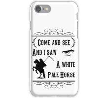 A White Pale Horse iPhone Case/Skin