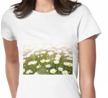White herb camomiles clump Womens Fitted T-Shirt