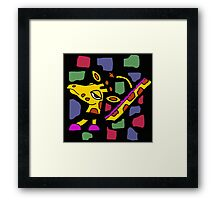 Awesome Colorful Abstract Art Giraffe Original Framed Print