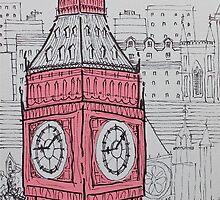 Big Ben In Pink by Adam Regester