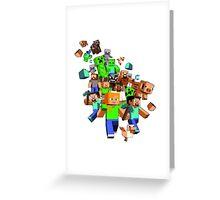 Minecraftattack Greeting Card