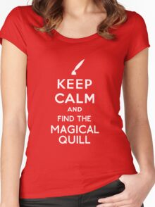 Keep Calm And Find The Magical Quill Women's Fitted Scoop T-Shirt