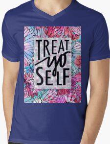 Treat Yo Self Parks and Recreation  Mens V-Neck T-Shirt