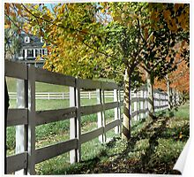 White Fence In Virginia Poster
