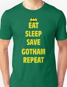 eat sleep save gotham repeat T-Shirt