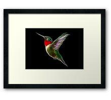 Medicine Wheel Totem Animals by Liane Pinel- Hummingbird Framed Print