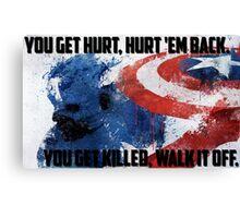 Captain America - Walk it off Canvas Print