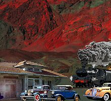 The Train Station Death Valley, California by Mike Pesseackey (crimsontideguy)