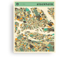 STOCKHOLM MAP Canvas Print