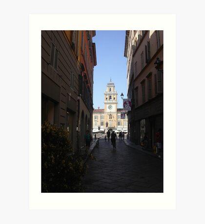 PARMA ...La strada che porta a P.zza Garibaldi--- ISOLAPEDONALE - PARMA  ITALIA - EUROPA- VETRINA RB EXPLORE 29 GIUGNO 2013 ! Art Print