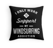 Windsurfing Extreme Sport Throw Pillow