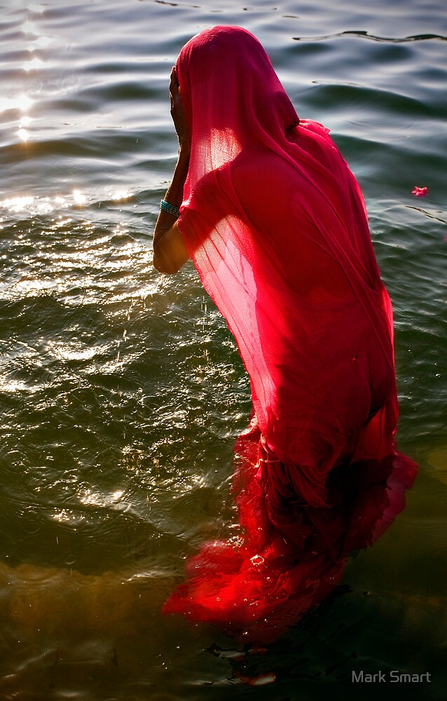 Bathing in the Ganges by Mark Smart