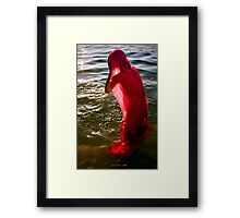 Bathing in the Ganges Framed Print