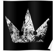 Kingdom Hearts Crown grunge Poster