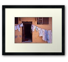 Washing Line. Rhodes Old Town, Greece Framed Print