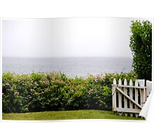 White Picket Fence, Nantucket Poster