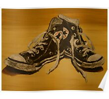 black converse base ball boots Poster
