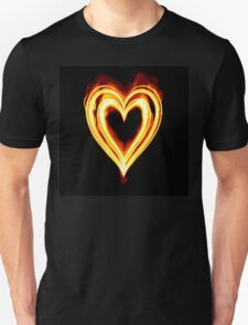 Flaming heart on Fire T-Shirt