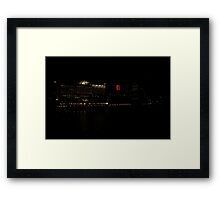 Southbank at Night Framed Print