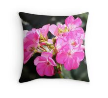 lil pink flowers  Throw Pillow